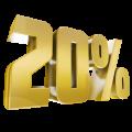 Online discount 20%
