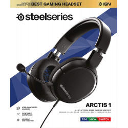 SteelSeries Arctis 1 Wired Gaming Headset– for PS4, PC, Xbox, Nintendo Switch, Mobile