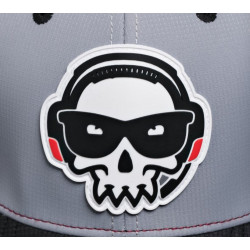 J!NX PRO TEAM CARRY TRUCKER HAT LIGHT GREY/BURGANDY