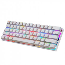 Motospeed CK62 Wired/Bluetooth Mechanical RGB Gaming Keyboard [White] - Red Switches