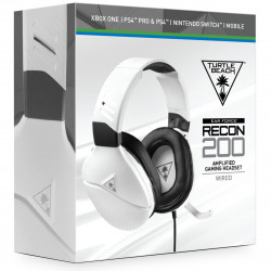 White Turtle Beach Recon 200 Amplified Gaming Headset for Xbox One, PS4 and PS4 Pro