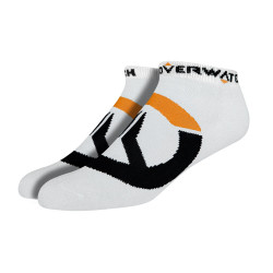 Overwatch Logo Socks (3 Pack) White
